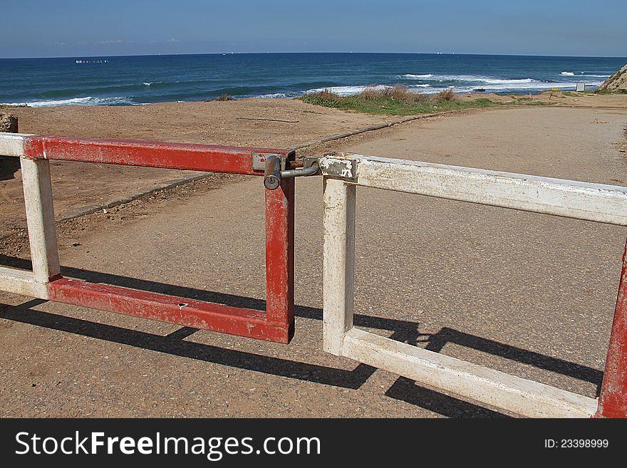 Closed and locked gates