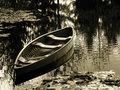 Free Canoe On Lily Pond Stock Photos - 2340673