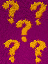 Free Raised Tile Question Marks Royalty Free Stock Images - 2340769