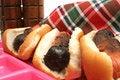 Free Burnt Hotdogs Upclose Stock Images - 2349894