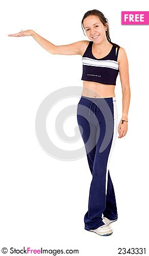 Free Fitness Woman Displaying Stock Image - 2343331