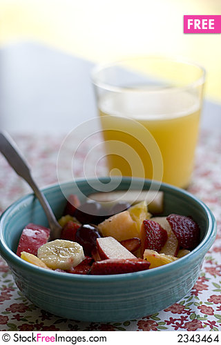Free Bowl Of Fruit Salad Stock Images - 2343464