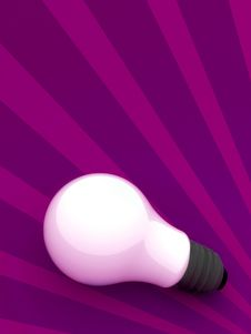 Free A Bulb On Purple Background Royalty Free Stock Photo - 2340745
