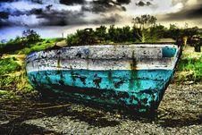 Green White Sailing Boat Stock Photo