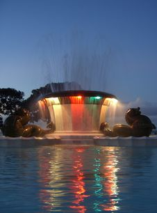 Free Colourful Fountain Royalty Free Stock Photo - 2341025