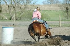 Free Barrel Racing Royalty Free Stock Photography - 2342597