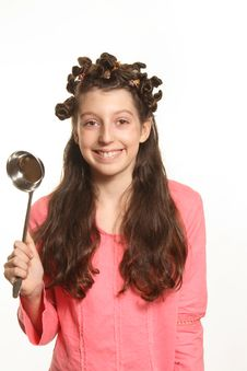 Free The Girl With Ladle Stock Photo - 2343520
