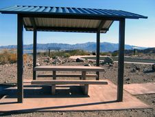 Sheltered Picnic Area Royalty Free Stock Photo
