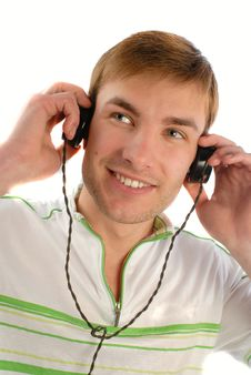 Free Guy Listens To Music Royalty Free Stock Photo - 2344145