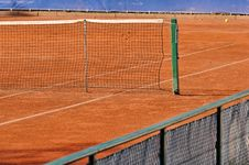 Free Empty Tennis Court Royalty Free Stock Photo - 2344925