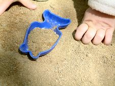 In The Sand Pit Royalty Free Stock Images