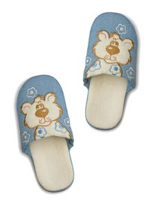 Childlike Slippers Royalty Free Stock Photos