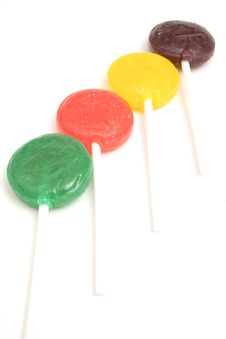Free Line Of Lollipops Stock Photography - 2349612