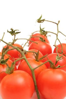 Free Cherry Tomatoes On Vine Vertic Royalty Free Stock Photo - 2349765