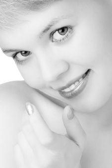 Free Close-ups Happy  Beauty Woman Stock Photos - 2349873