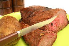 Free Steak & Potato On A Plate Stock Photos - 2349893