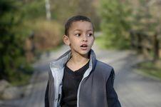 Free A Boy Walking Stock Photo - 2349930