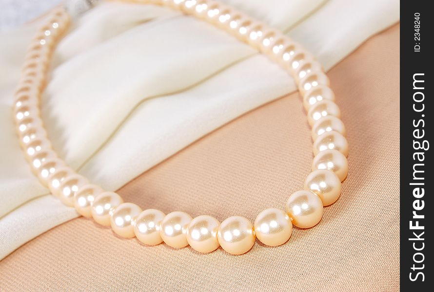 Pearl Strings Abstract Necklace Background Stock Photo