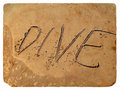 Free The Inscription Dive Of The Sand. Old Postcard. Royalty Free Stock Photos - 23400678