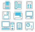 Free Office Icon Duoton Stock Photography - 23402722