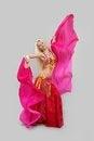 Free Girl Dances East Dance. Stock Image - 23409881