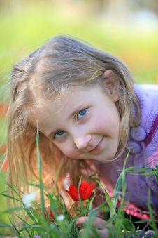 Free Portrait Of Blond Child Royalty Free Stock Photography - 23400477