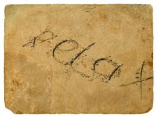The Inscription Relax Of The Sand. Old Postcard. Royalty Free Stock Image