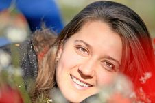Portrait Of Teen Girl Outdoors Royalty Free Stock Photo