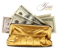 Gold Purse Stock Images