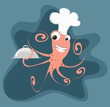 Free Cartoon Octopus Chef Stock Photos - 23402683