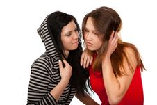 Free Dialogue Of Two Friends Stock Photography - 23403442