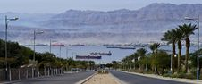 Free View On Moored Freight Ships In Aqaba Gulf Royalty Free Stock Images - 23404699