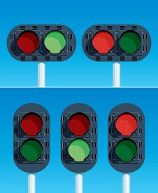 Free Railway Traffic Lights Stock Images - 23405324