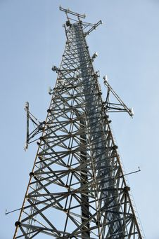 Microwave Telecommunications Tower Royalty Free Stock Photo