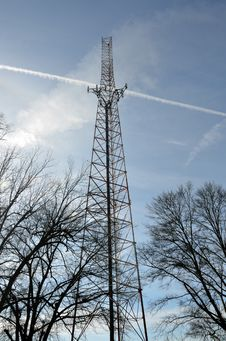 Microwave Telecommunications Tower Royalty Free Stock Image