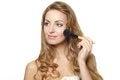 Free Portrait Of Young Beautiful Woman Applying Makeup Stock Photo - 23410790