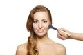 Free Makeup Artist Applying  Makeup To Attractive Girl Royalty Free Stock Images - 23410819