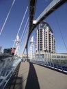 Free Footbridge Salford Quays Royalty Free Stock Images - 23412219
