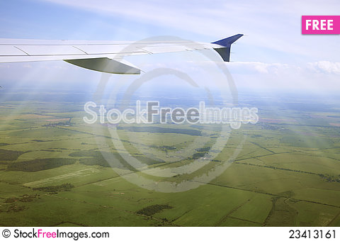 Free View From An Airplane Stock Image - 23413161