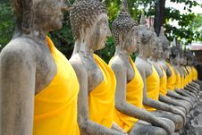 Free Row Of Ruin Images Of Buddha Stock Photography - 23410252