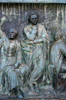 Free Ludwig Van Beethoven Statue. Stock Photography - 23410592