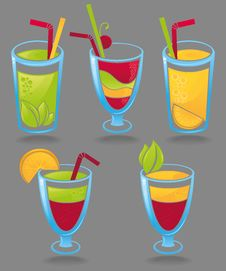 Free Collection Of Cocktails Stock Image - 23410941