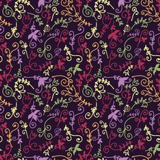Free Floral Seamless Pattern Royalty Free Stock Image - 23411466