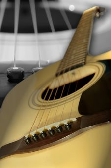 Free Acoustic Six-string Guitar Stock Photo - 23412040
