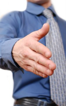Outstretched Mans Hand Royalty Free Stock Photo