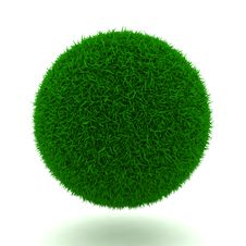 Free Grassy Ball Royalty Free Stock Photos - 23413178