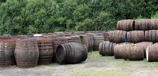 Free Whisky Barrels. Stock Photos - 23413333