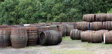 Free Whisky Barrels. Stock Photos - 23413333