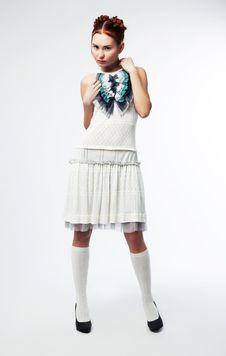 Free Beautiful Fashion Model Brunette Posing Stock Photos - 23414023