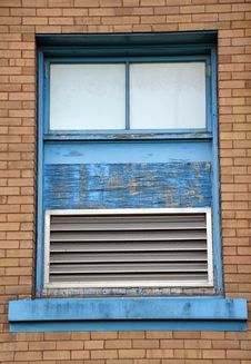 Free Old Blue Window Royalty Free Stock Photo - 23414615